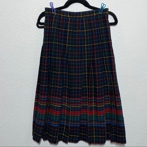 Vintage College Town Pleated Skirt